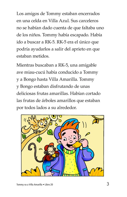 Book Preview For Tommy Goes to Yellowland Page 3
