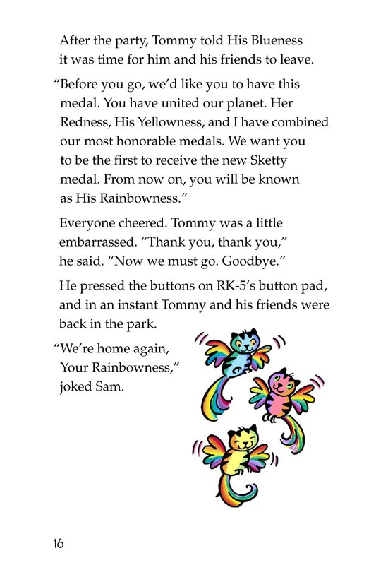 Book Preview For Tommy, His Rainbowness Page 16