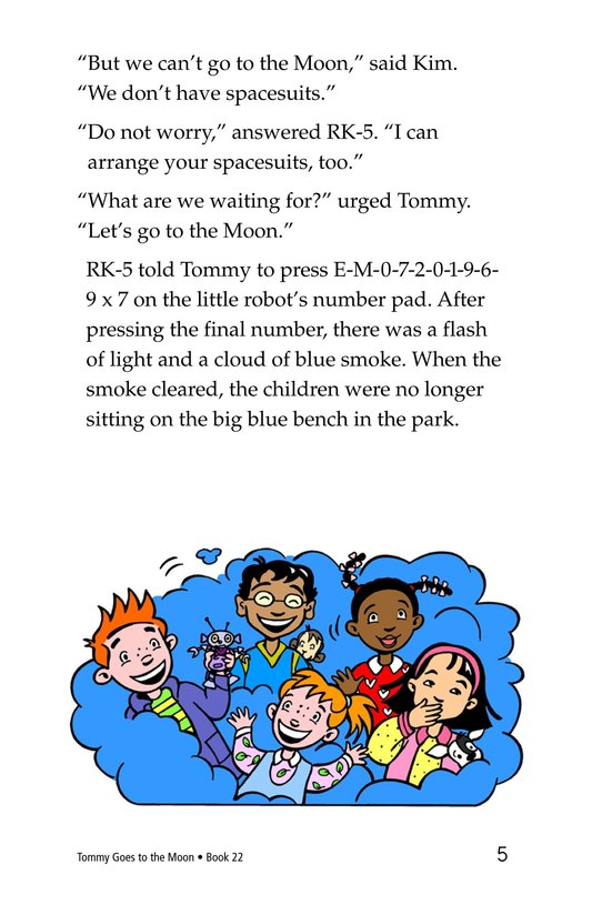 Book Preview For Tommy Goes to the Moon Page 5