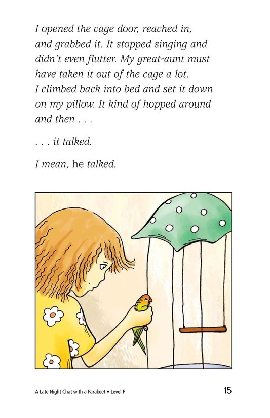 Book Preview For A Late Night Chat with a Parakeet Page 15