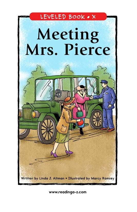 Book Preview For Meeting Mrs. Pierce Page 1