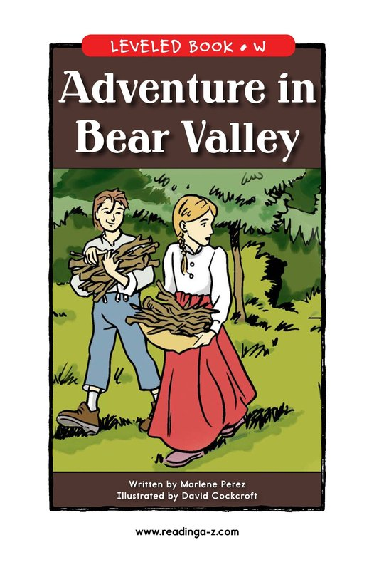 Book Preview For Adventure in Bear Valley Page 1