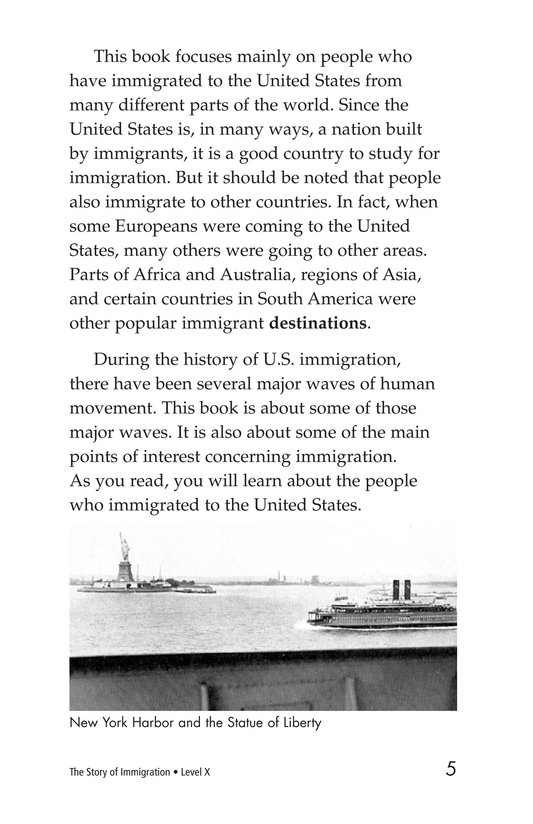 Book Preview For The Story of Immigration Page 5