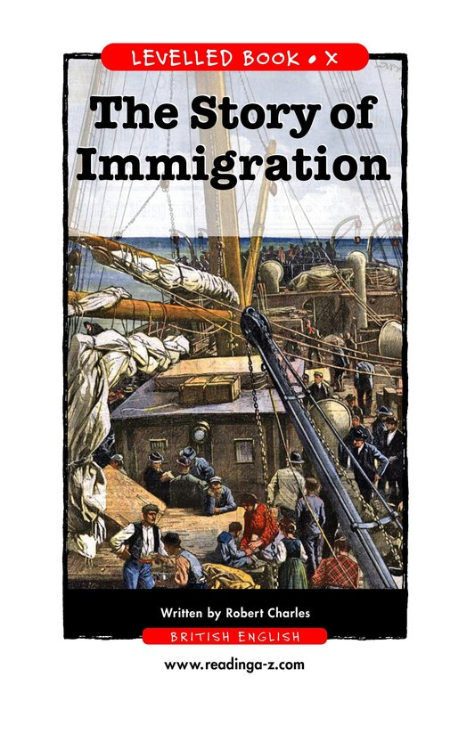 Book Preview For The Story of Immigration Page 1
