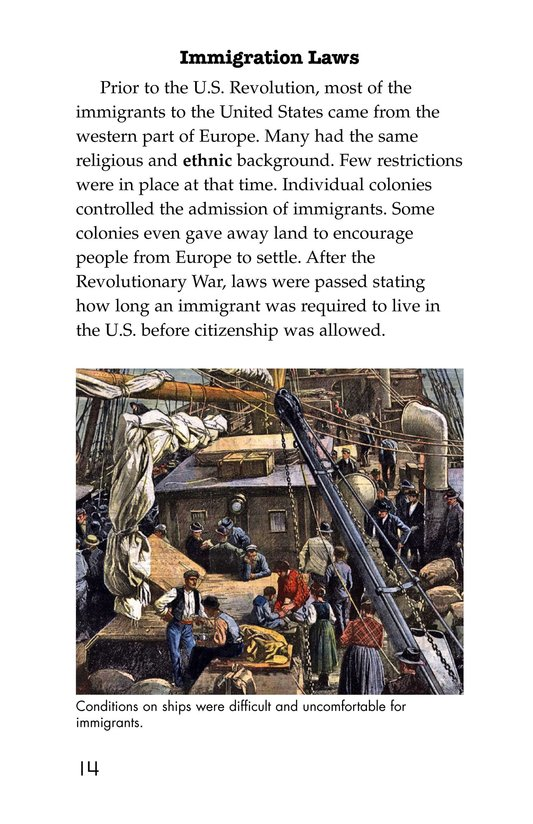 Book Preview For The Story of Immigration Page 14