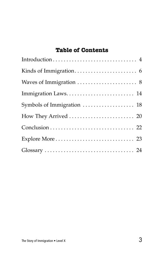 Book Preview For The Story of Immigration Page 3