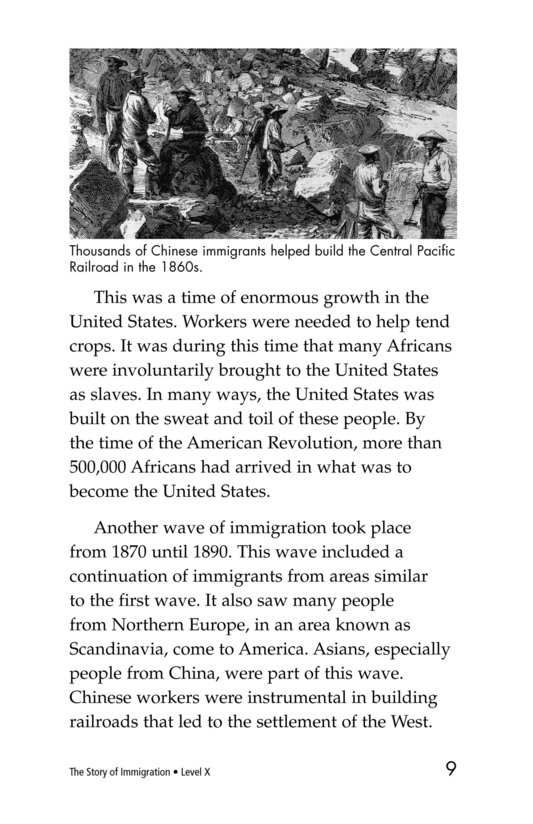 Book Preview For The Story of Immigration Page 9