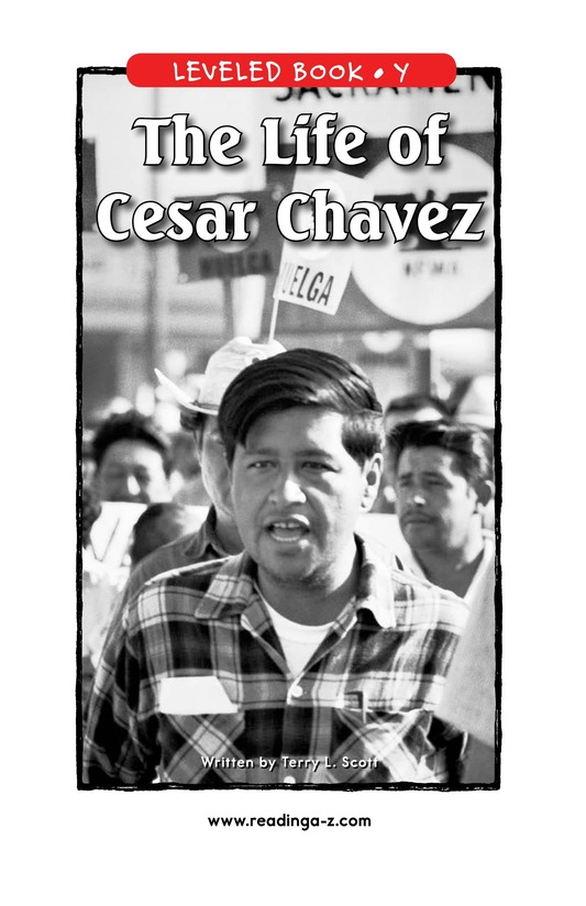 Book Preview For The Life of Cesar Chavez Page 1
