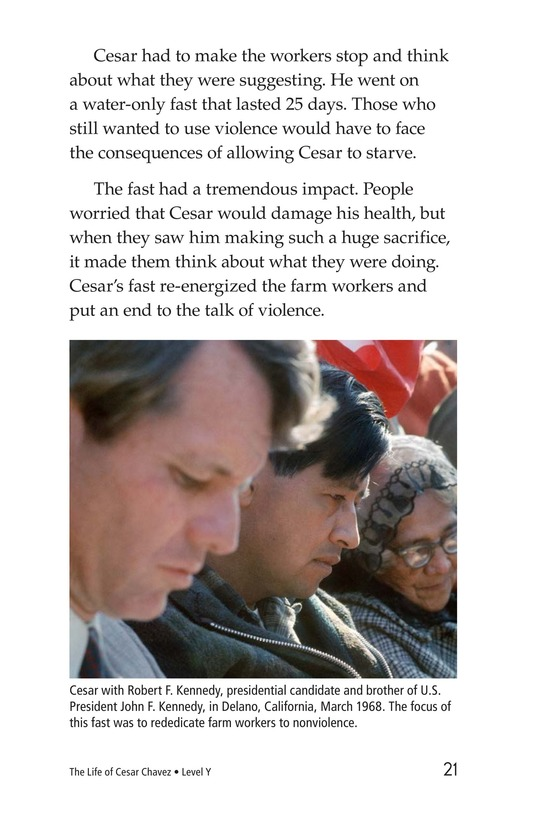 Book Preview For The Life of Cesar Chavez Page 21