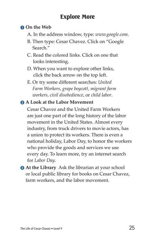Book Preview For The Life of Cesar Chavez Page 25