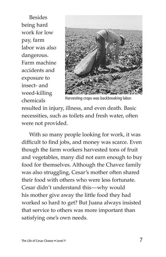 Book Preview For The Life of Cesar Chavez Page 7