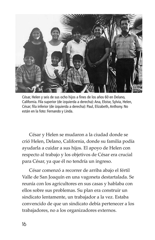Book Preview For The Life of Cesar Chavez Page 16