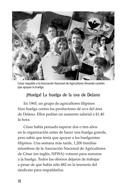 Book Preview For The Life of Cesar Chavez Page 18
