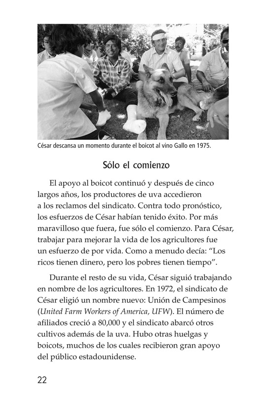 Book Preview For The Life of Cesar Chavez Page 22