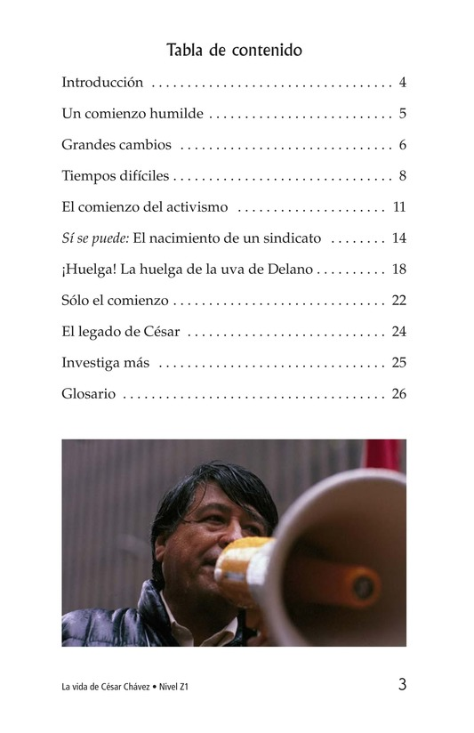 Book Preview For The Life of Cesar Chavez Page 3