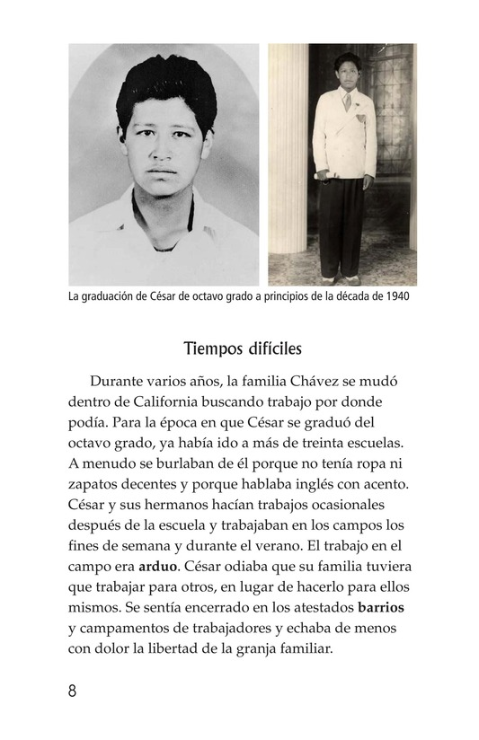 Book Preview For The Life of Cesar Chavez Page 8