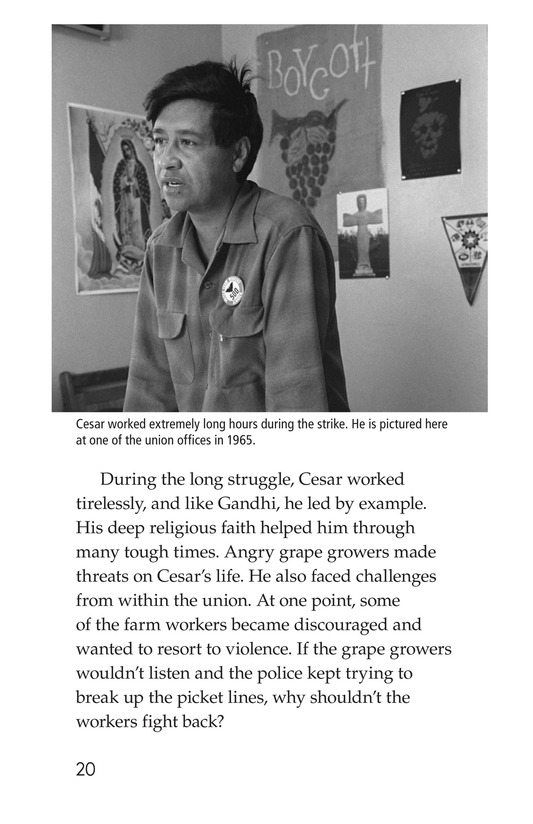 Book Preview For The Life of Cesar Chavez Page 20