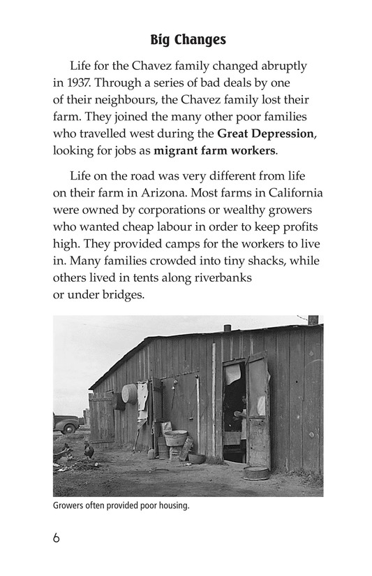 Book Preview For The Life of Cesar Chavez Page 6