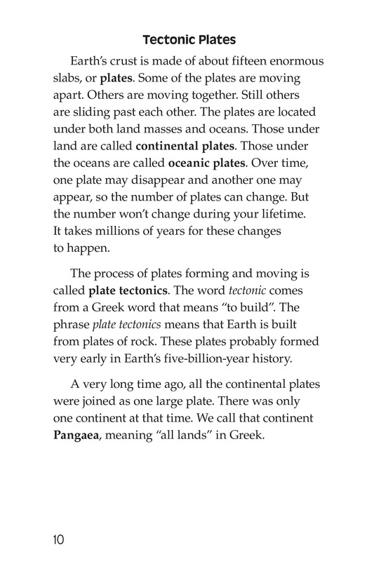 Book Preview For Plate Tectonics Page 10