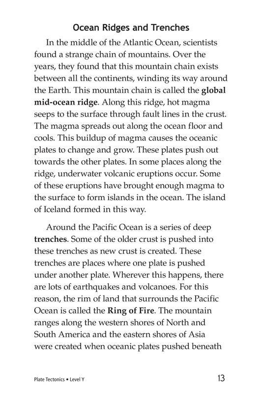 Book Preview For Plate Tectonics Page 13