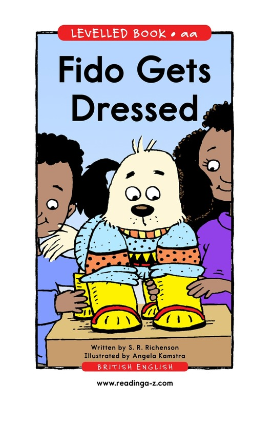 Book Preview For Fido Gets Dressed Page 1