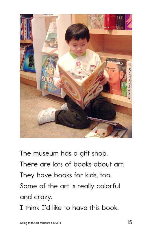Book Preview For Going to the Art Museum Page 15
