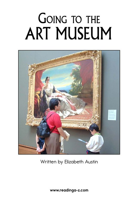 Book Preview For Going to the Art Museum Page 2