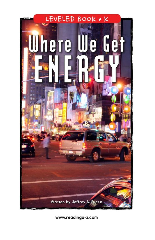 Book Preview For Where We Get Energy Page 1