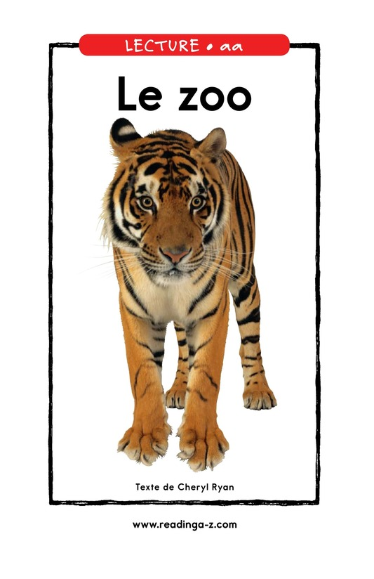 Book Preview For The Zoo Page 1