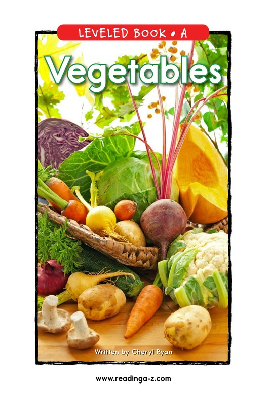 Book Preview For Vegetables Page 0