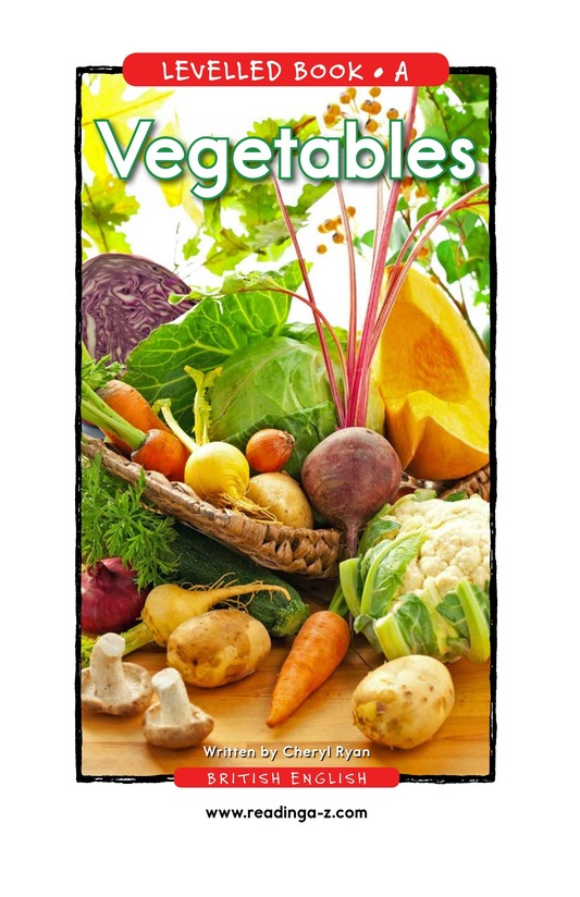 Book Preview For Vegetables Page 1