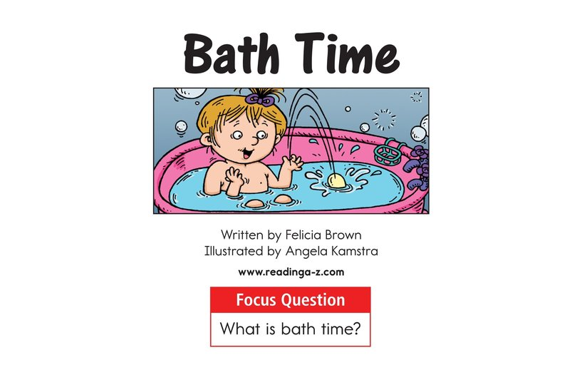 Book Preview For Bath Time Page 1