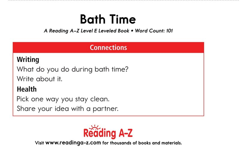 Book Preview For Bath Time Page 11