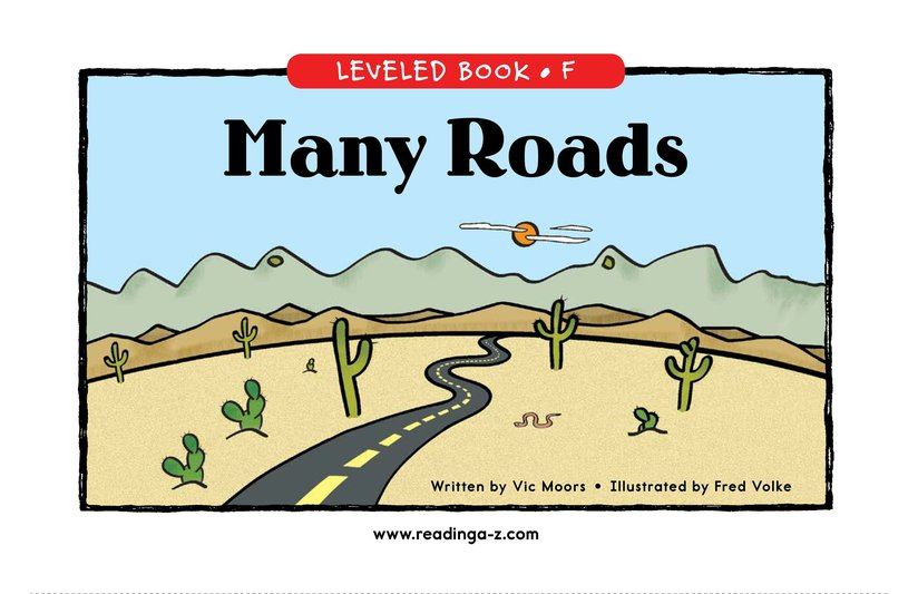 Book Preview For Many Roads Page 0