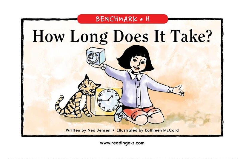 Book Preview For How Long Does It Take? Page 1