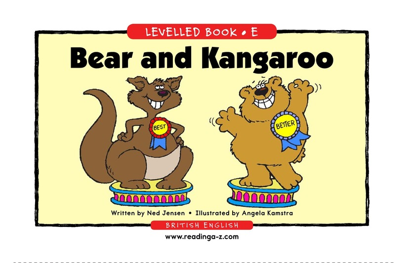 Book Preview For Bear and Kangaroo Page 1