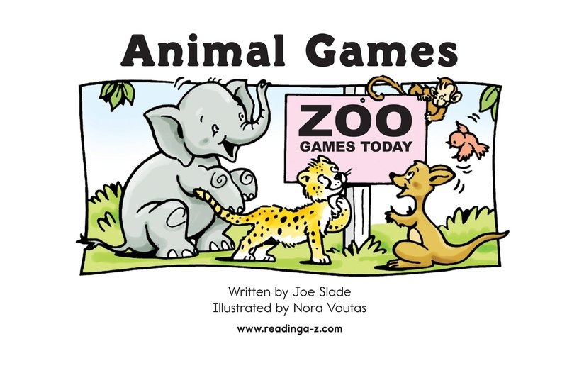 Book Preview For Animal Games Page 2