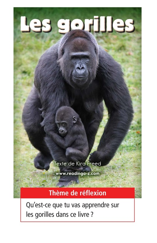 Book Preview For Gorillas Page 1