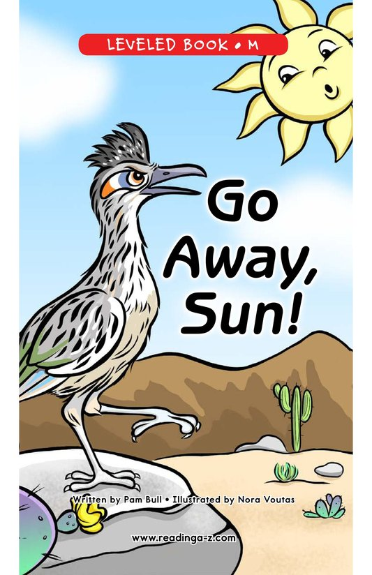 Book Preview For Go Away, Sun! Page 0