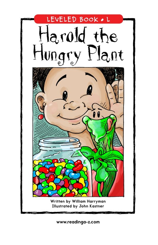 Book Preview For Harold the Hungry Plant Page 0