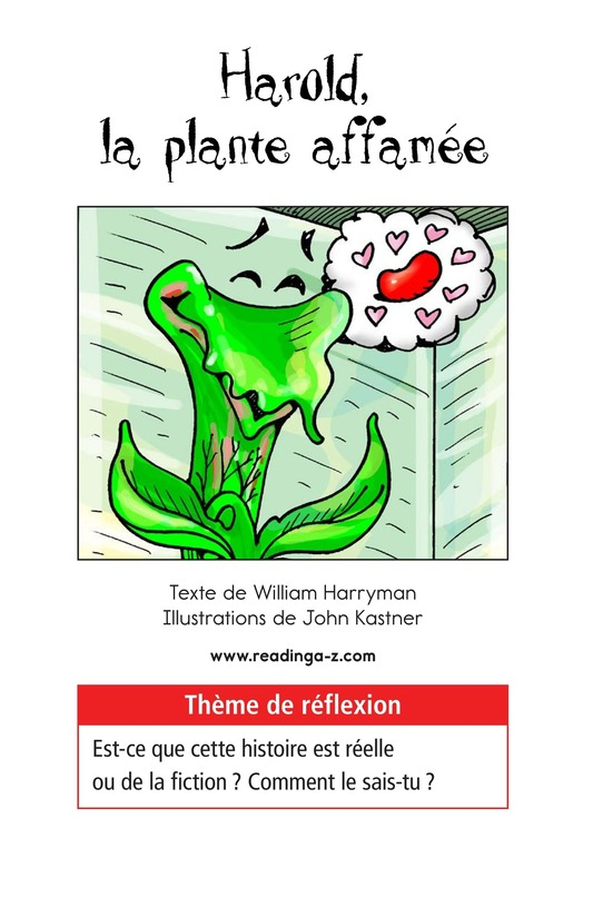 Book Preview For Harold the Hungry Plant Page 1