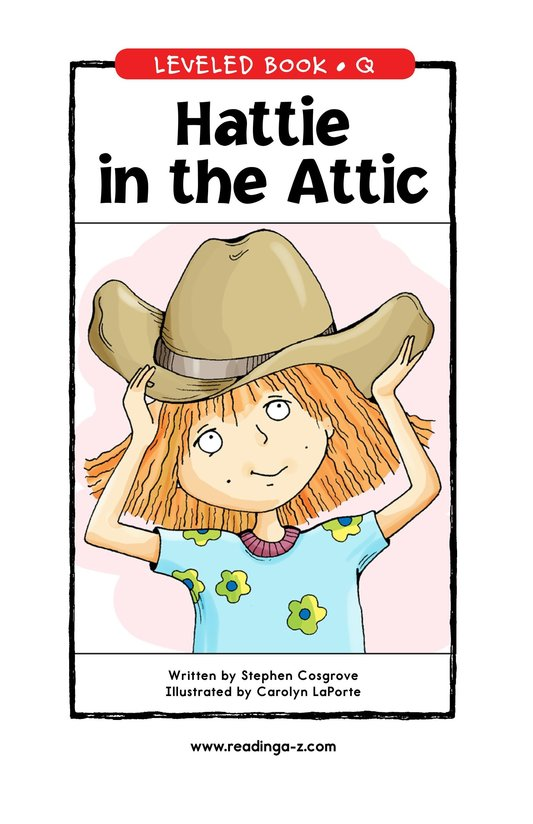 Book Preview For Hattie in the Attic Page 0