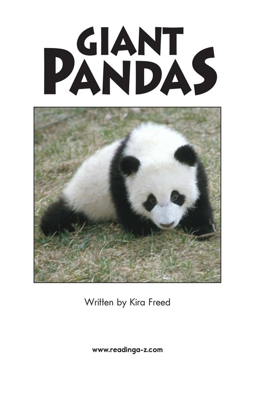 Book Preview For Giant Pandas Page 2