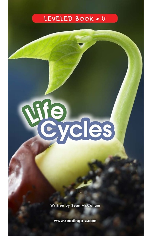 Book Preview For Life Cycles Page 0