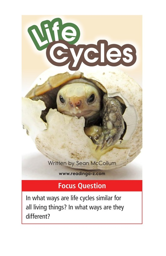 Book Preview For Life Cycles Page 1