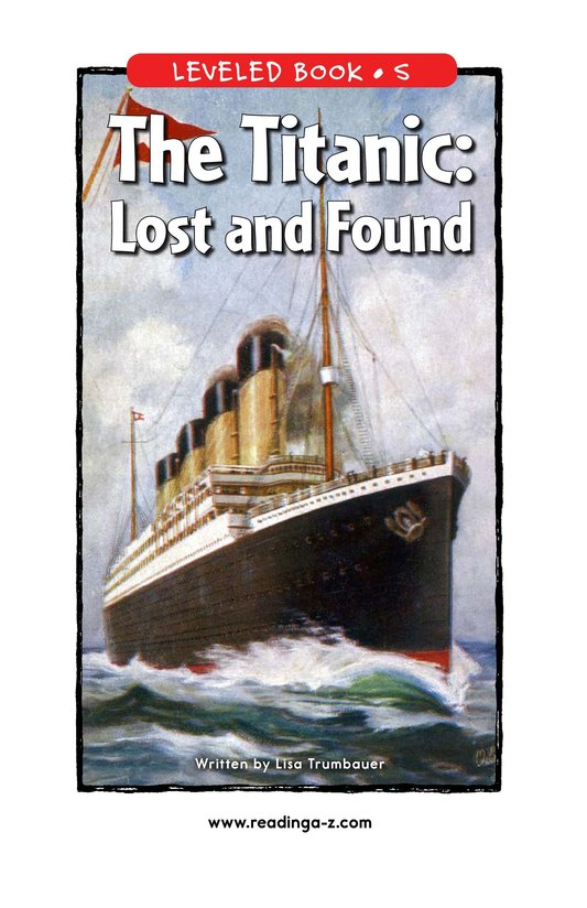 Book Preview For The Titanic: Lost and Found Page 1