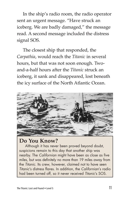Book Preview For The Titanic: Lost and Found Page 11