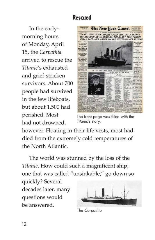 Book Preview For The Titanic: Lost and Found Page 12