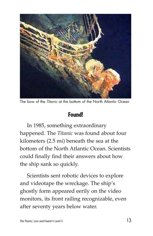 Book Preview For The Titanic: Lost and Found Page 13