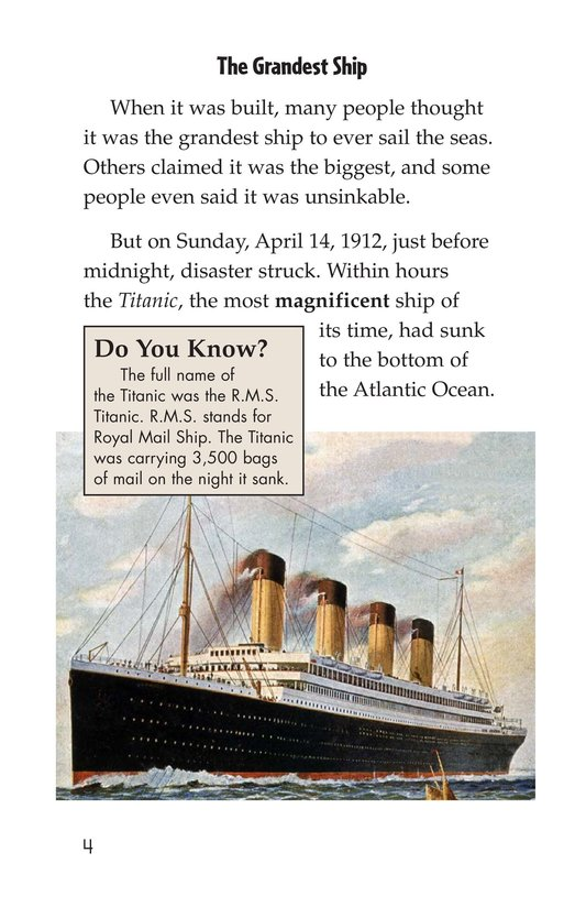 Book Preview For The Titanic: Lost and Found Page 4